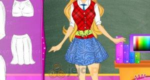 Szkolny mundurek dla Barbie