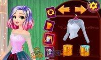 Kolorowa sukienka Roszpunki