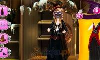 Anna i halloweenowa maska