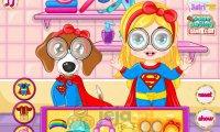 Barbie, pies i wspólny kostium