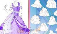 Projektowanie - Suknia księżniczki