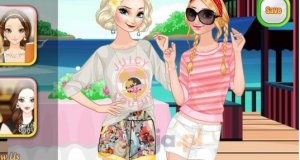 Anna i Elsa na wakacjach