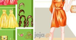 Żółte i pomarańczowe sukienki