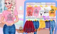 Księżniczki i koszulki z przesłaniem