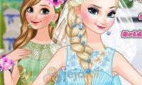Elsa panną młodą, a Anna druhną