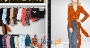 Krótki top i szerokie spodnie