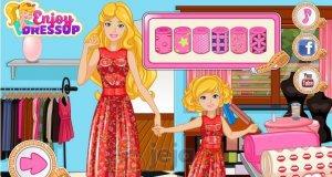 Barbie, Lilly i szycie sukienki
