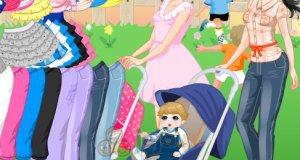 Kobieta z wózkiem
