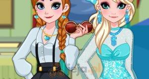 Anna i Elsa na zakończeniu roku szkolnego