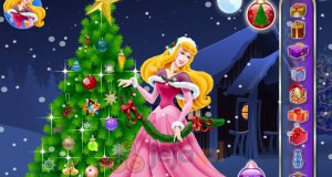Aurora ubiera choinkę