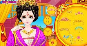 Fryzura chińskiej księżniczki