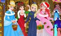 Księżniczki Disneya i świąteczne przygotowania