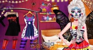 Elsa i Anna na imprezie halloweenowej