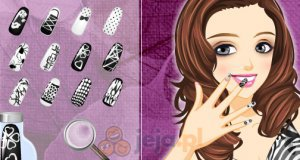 Czarno-białe paznokcie