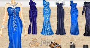 Niebieskie suknie wieczorowe