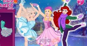 Księżniczki Disneya na łyżwach