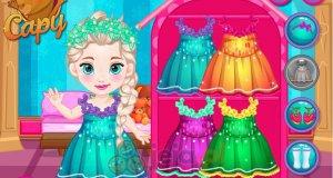Mała Elsa w szkole
