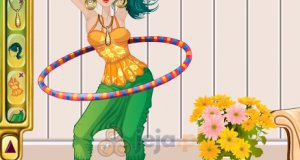 Zabawa z hula hoop