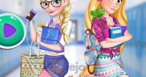 Elsa i Roszpunka w koledżu