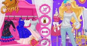 Barbie i ubrania w kropki