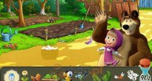 Masza i Niedźwiedź na farmie