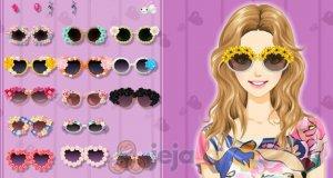 Kwiatowe okulary przeciwsłoneczne