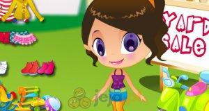 Dziewczynka na podwórku
