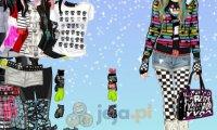 Emo w śniegu