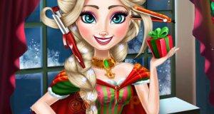 Zwariowana fryzura Elsy na Święta
