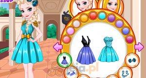 Elsa i Roszpunka - dopasowywanie stroju
