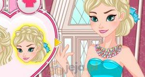 Elsa sama robi naszyjnik