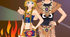 Sara na indiańskiej imprezie