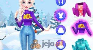 Elsa i Anna na łyżwach