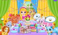 Baby Barbie i zwierzaczkowe przyjęcie