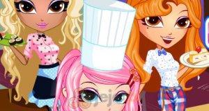 Dziewczyny jako kelnerki