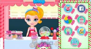 Baby Barbie i sklep ze słodyczami