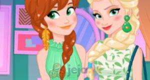 Siostry z Krainy lodu w zieleni