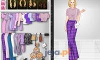 Zabawa kolorami - fioletowy