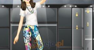 Kolorowe legginsy