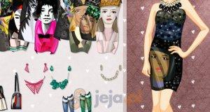 Sukienki z twarzami