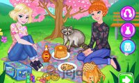 Elsa i Anna na pikniku