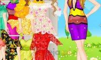 Letnie sukienki laleczki Barbie