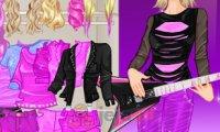 Barbie z zespole rockowym