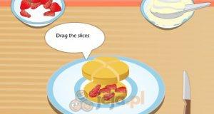 Truskawkowe ciastko
