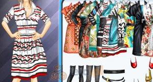 Wzorzyste, krótkie sukienki