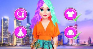 Neonowa fryzura Elizy