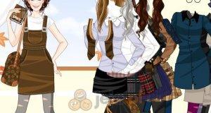 Jesienny strój szkolny