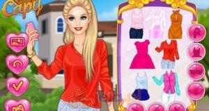 Barbie i selfie przed szkołą
