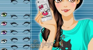 Dziewczyna z smartphonem