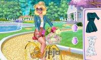 Księżniczki na wycieczce rowerowej